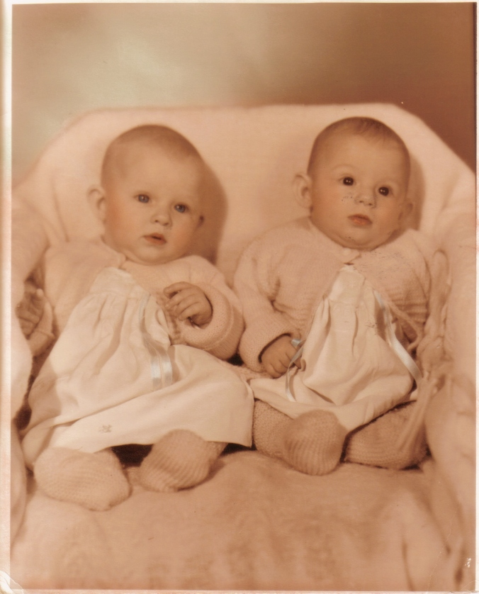 The twins - Priscialla Geralene (my mom, left) and Aquilla Murielene (my precious aunt who passed away nearly 5 years ago)